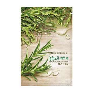 Nature Republic Mask Sheet Aloe Vera & Tea Tree