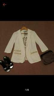 日本帶回 Destiny 特殊造型 滿版蕾絲 七分袖外套