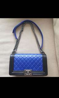 *Authentic Chanel boy two tone