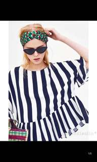 Europe and the United States striped and laminated decorative shirt