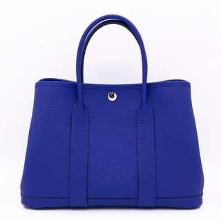 (NEW)Hermes GARDEN PARTY VACHE LIEGEE TPM 30 TOTE BAG PHW, ELECTRIC BLUE / CK7T 全新 手袋 藍色 銀扣