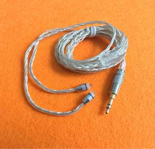 KZ 8 wire Silver plated 2 pin cable