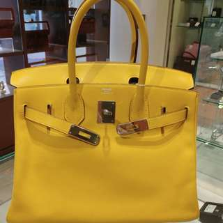 Hermes birkin 30 yellow
