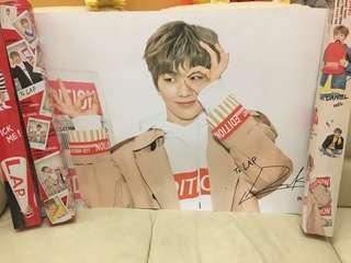 限量超大Lap 姜丹尼爾poster(連盒韓國運來)