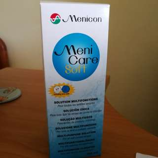 Menicon contact lens solution with free contanct lens box