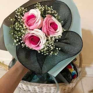 Rose Bouquet soap flower
