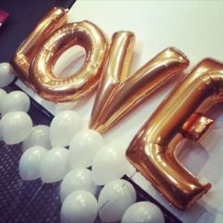 Brand new gold foil LOVE balloons