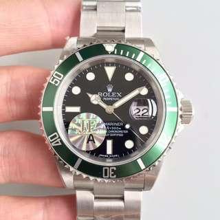 玩表吧 見面交收 Rolex 勞力士 submariner 16610LV 40mm 綠圈黑面 16610 JF出品
