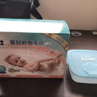 柔仕嬰兒紗布巾含抽取盒