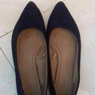 rubi navy flat shoes