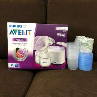 Philips Avent natural breast pump (Twin)