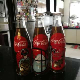 Japan Coca Cola Bottles Set