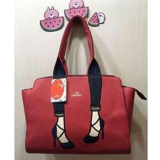 {💝出清回饋價}私物💋日本 美腿包 高跟鞋包 手提包(大)紅色