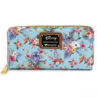 Loungefly x Stitch Tropical Floral Print Wallet