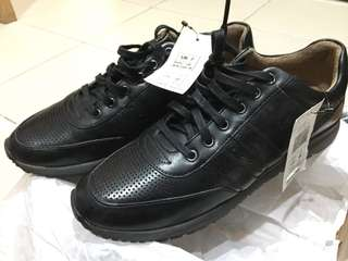 Marks and Spencer Black Leather Sneakers