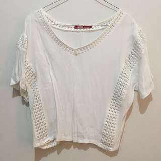 White top bohemian ada woman