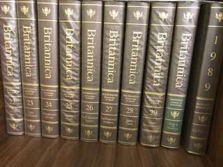 Britannica Encyclopedia (15th Edition,  1989, 33 volumes, whole collection)