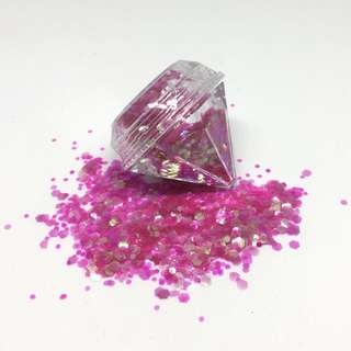 Barbie Pink Cosmetic Glitter 5ml Diamond Pot