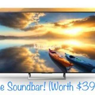 Sony 65X7000E 4K Ultra HD LED Internet TV with free Soundbar