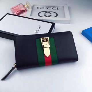 Gucci 錢包(Gucci  sylvie系列錢包,女用長夾皮夾有黑色和紅色「Yuanroro優質賣場;