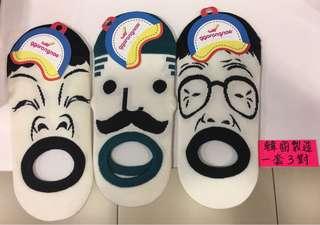 全新韓國人氣襪,一套三件