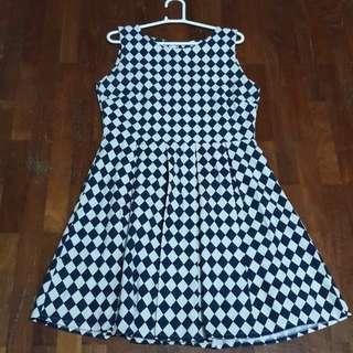 Checked skater dress