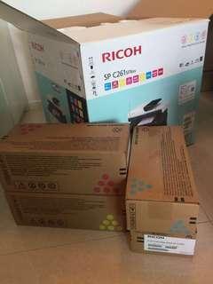 RICOH printer SP C261 SFNW 連Toner