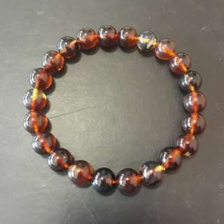 Very rare and precious Blue Amber Bracelet. Size 8mm beads. Unfortunately the camera unable to capture its blue, put it under sport light it will show blue clearly.