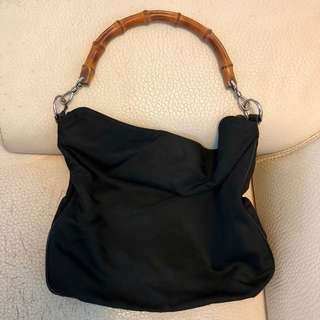gucci shoulder bag bamboo handle
