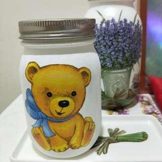 Decoupage mason jar