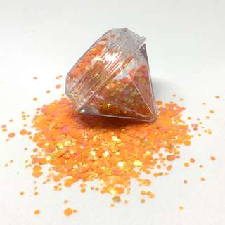 Tangerine Cosmetic Glitter 5ml Diamond Pot