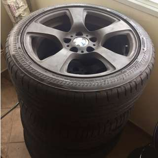 BMW 17inch Rims & Tyres For Swap