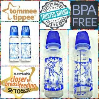(Loose Pack) Tommee Tippee Essentials Satandard Neck Bottles 250ml