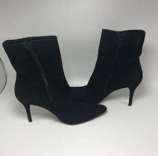 Costume National Luxe Ori Boots Suede Leather