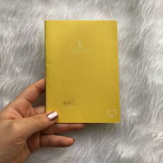 Mini Yellow Rilakkuma Lined Notebook