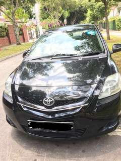 Toyota Black Vios for Uber or Grab Rental