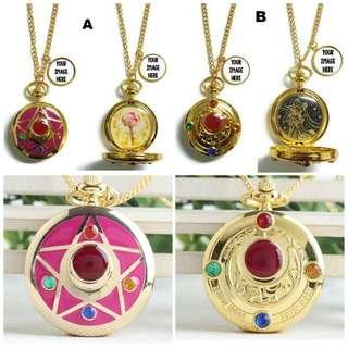 Customized Sailormoon Pocket Watch Necklace