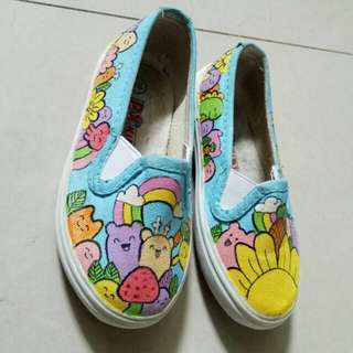 Sepatu Anak Painting Unisex Size 24