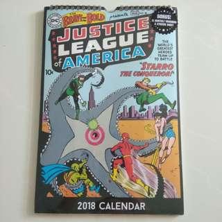 Justice League 2018 Calendar