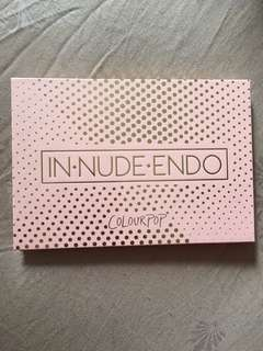 IN NUDE ENDO HIGHLIGHTER PALETTE USED COLOURPOP