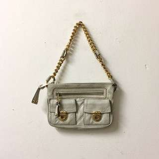 Marc Jacobs Beige Cammie Quilted with Chain Handbag