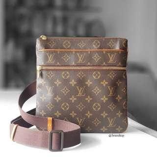 Authentic Louis Vuitton Monogram Valmy Pochette LV