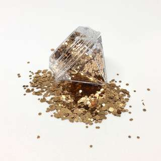 Rose Gold Cosmetic Glitter 5ml Diamond Pot