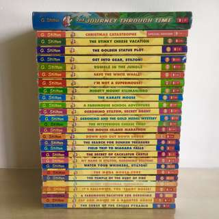 27 Paperbacks & 1 Hardcover Geronimo Stilton