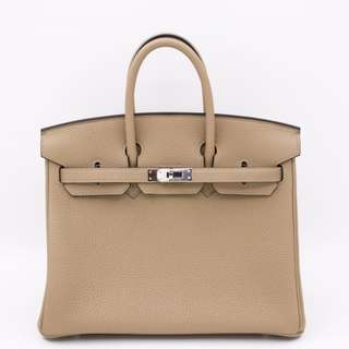 (NEW)Hermes BIRKIN TOGO 25 TOTE BAG PHW, TRENCH / CKS2 全新 手袋 淺啡色 銀扣