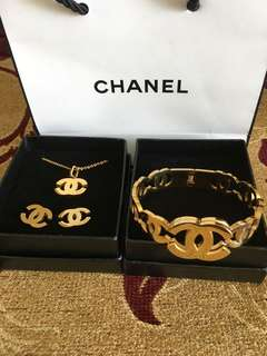 Authentic Stainless Steel Chanel Set
