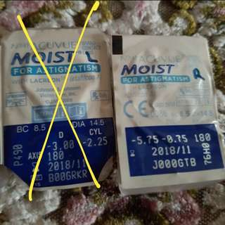 1-Day Acuvue Moist (For Astigmatism)