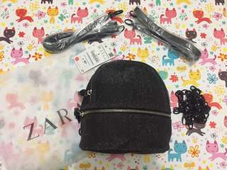 Zara Backpack Glitter Ori