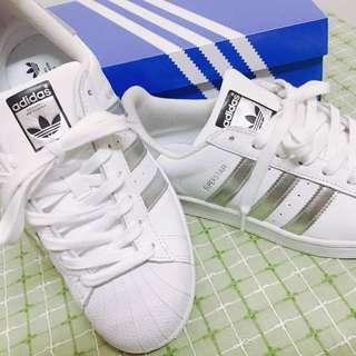 Adidas貝殼鞋 Originals 銀色