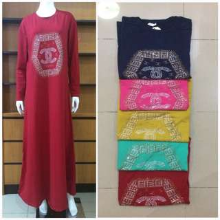 Gamis payet kaos import fit to xxl
